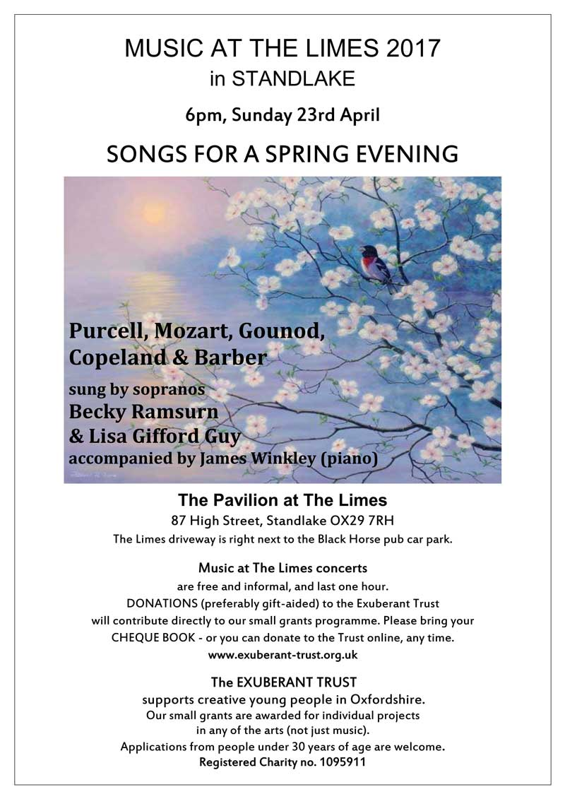 Songs for a Spring Evening